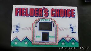 Replacement Parts Capable Fielders Choice Arcade Machine Marquee ~ Used By Baytek Arcade, Jukeboxes & Pinball