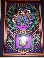 DC Comics Joker tin sign wall decor metal Batman retro Trends Int playing card