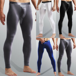 Mens-Sexy-Modal-Long-Johns-Legging-Trousers-Bottoms-Breathable-Pants-Underwear