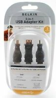 Belkin 3-in-1 Usb Adapter Kit W/storage Pouch F3u149tt