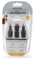 Belkin 3-in-1 Usb Adapter Kit W/storage Pouch F3u149tt
