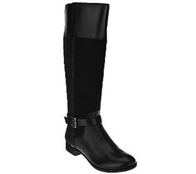 Isaac Mizrahi Live! Quilted Tall Shaft Riding Boots ARA2  PICK SIZE & COLOR NW