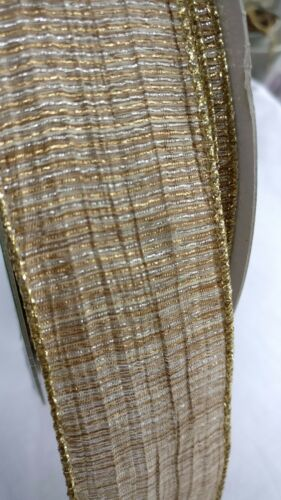 """2m Luxury Wire Edged Ribbons// 38mm//1.5/"""" //Gold//Glitter Dots//Silver//Blue//Red//Fairy"""