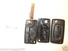Guscio cover scocca chiave telecomando 2 tasti Citroen C3 C4 C2 e porta batteria