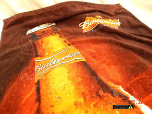 BUDWEISER-BEACH-TOWEL-COPA-BRAND-54-034-x30-034-APPROX-USED-SLIGHTLY-DISTRESSED-AS-IS
