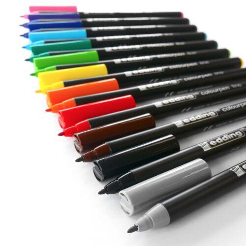 Edding-colourpen-Fino Bala Con Punta fibrepen Cartera de 12 0.5mm a 1.0mm