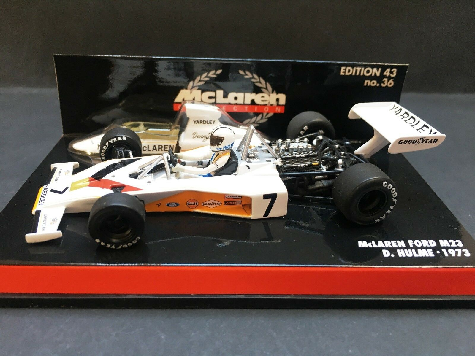 Minichamps - Denny Hulme - McLaren - M23 - 1973 -1 43 - Yardley - Rare