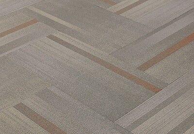 "SHAW Chevron Overlay Paprika Carpet Tiles 18"" x 36"""