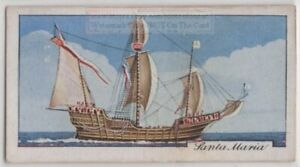 Santa-Maria-Christopher-Columbus-Flagship-America-1930s-Trade-Ad-Card