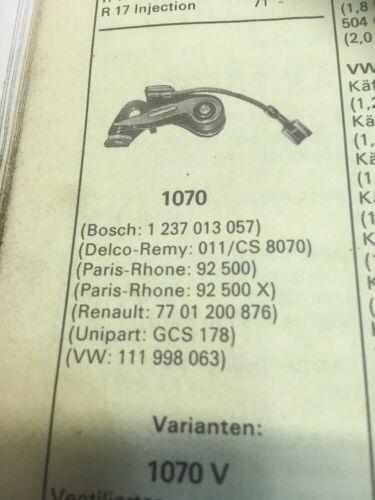 Bj NOS 1 Zündkontakt VW Käfer T2 1967-74   1 237 013 057 Bosch Nr.