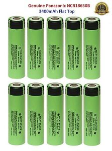 10x-Genuine-Panasonic-18650-3400mAh-3-7v-Rechargeable-Battery-Wholesale-Joblots