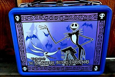 CLASSIC NEW NIGHTMARE BEFORE CHRISTMAS FULL SIZE METAL LUNCH BOX W THERMOS NECA   eBay