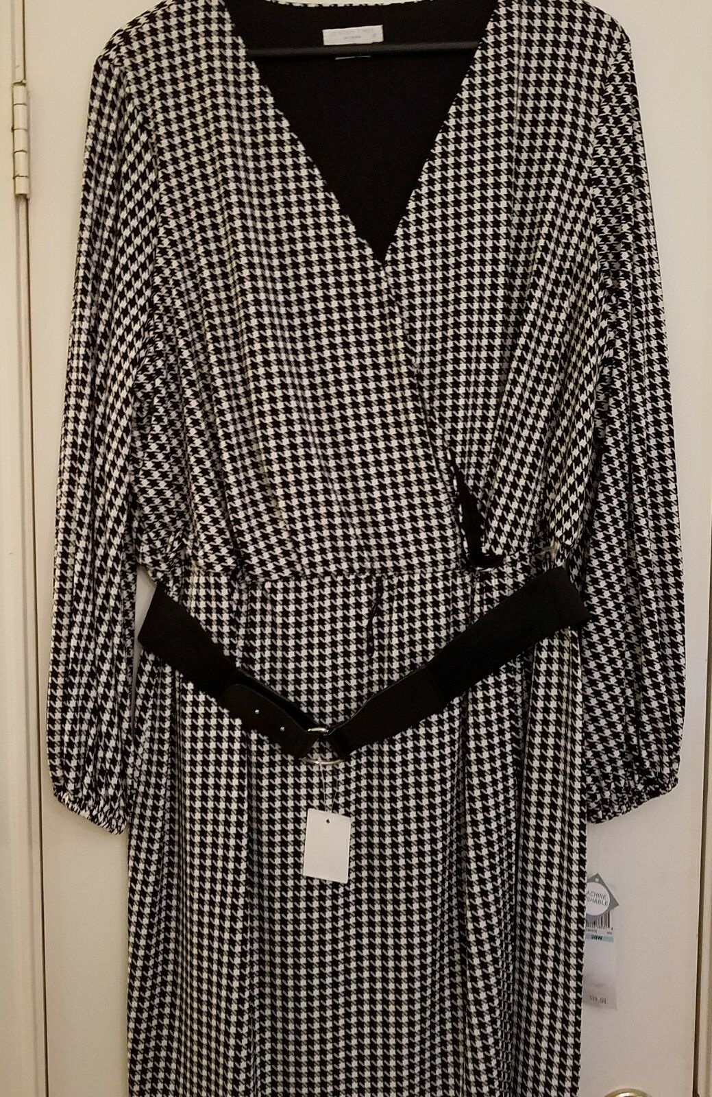 NWT London Times Woman Houndstooth Dress size 20