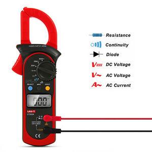 UNI-T-UT202A-AC-LCD-Digital-Clamp-Meter-Multimeter-Handheld-Tester-Ohm-BI151