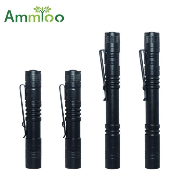 Hatori Mini LED Flashlight Battery-Powered Handheld Pen Light Tactical Torch wit