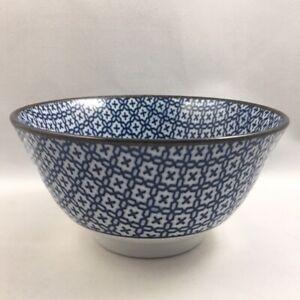 "Set of 4 PCS Japanese 5.25/""D Porcelain Rice Soup Bowls Kyo Indigo Made in Japan"
