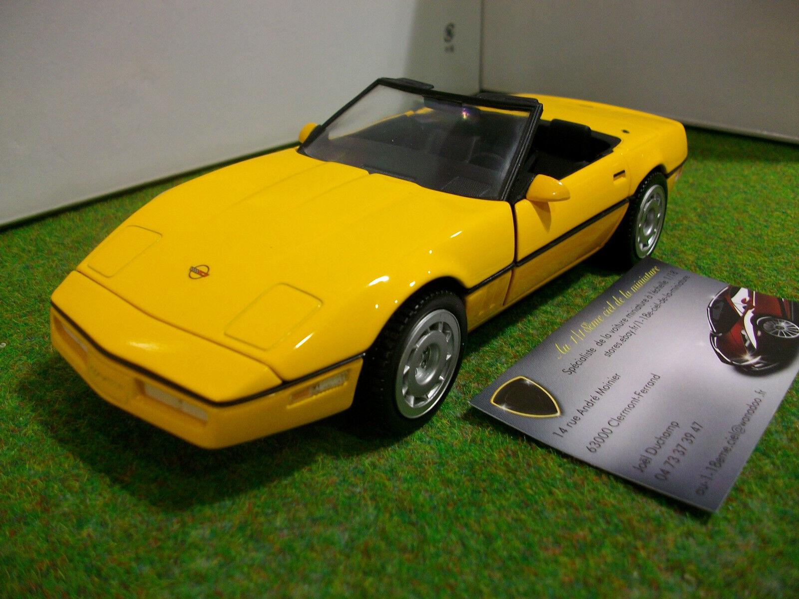 CHEVROLET CORVETTE 1986 cabriolet 1/24 d FRANKLIN MINT B11RT38 voiture miniature