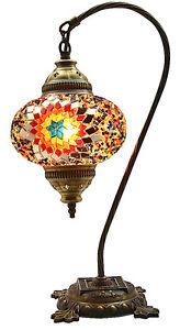 GRAND-2016-Turque-Marocain-Mosaique-Table-Chevet-Tiffany-Cygne-Lampe-Lumiere