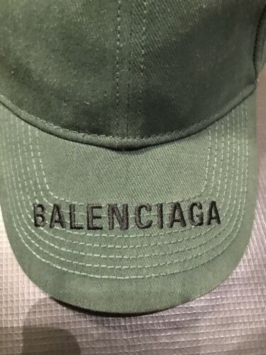 BALENCIAGA BASEBALL CAP RARE MILITARY GREEN HAT MS