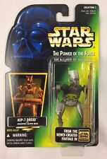 Kenner Star Wars Power of the Force POTF2 Green Card Hologram ASP-7 Droid 1996