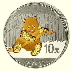 Panda-2014-China-10-Yuan-Var-2-1-Unze-Silber-gilded-vergoldet-BU-5-000Ex