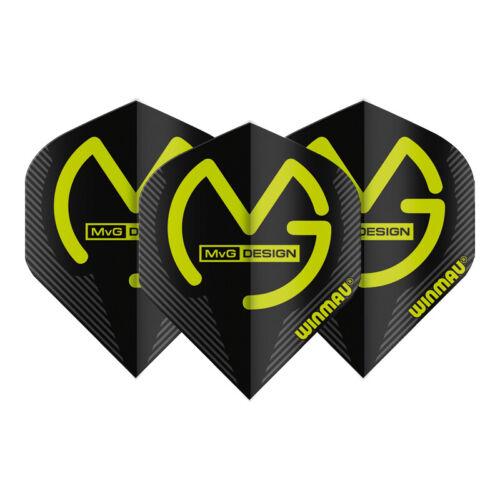MvG Dart Flights Winmau Michael Van Gerwen Extra Thick Assorted Designs x9Pieces