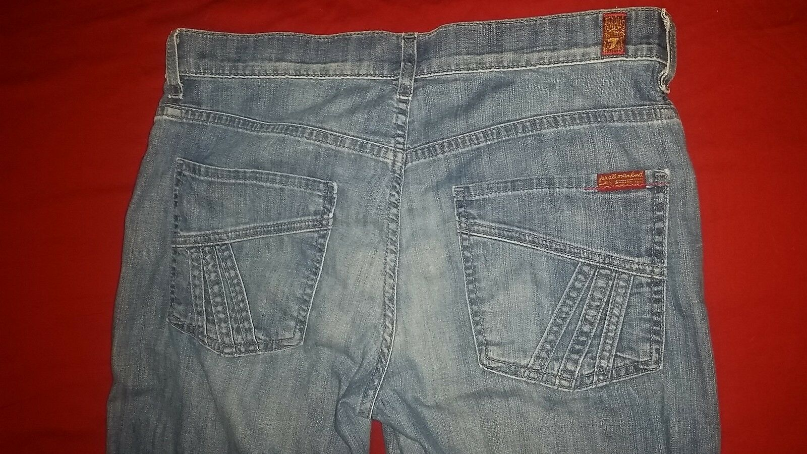 7 For All Mankind Flare Match St. Martin Women's Jeans size 31, inseam 31