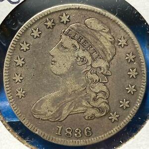 1836 50C Capped Bust Half Dollar, Lettered Edge (60818)