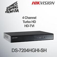4 Channel DVR Turbo HD Security Surveillance CCTV Hikvision DS-7204HGHI-SH