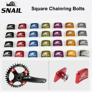 SNAIL-Aluminum-Alloy-Chainring-Bolts-MTB-Bike-Square-Crankset-Chainwheel-Screws