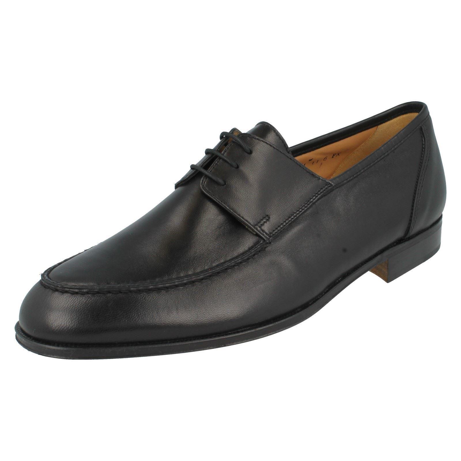 Scarpe casual da uomo  Nero da Uomo Leather Grenson Verona con Lacci Fx Vestibilità