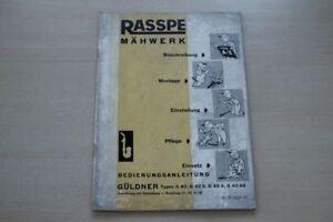 193364) Rasspe Maher Güldner G 40 S A As Pièce De Rechange Liste Manuel 1965-e Handbuch 1965 Fr-fr Afficher Le Titre D'origine