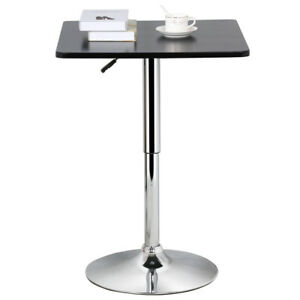 Adjustable Swivel Square Pub Table Bar Counter Height Cafe Bistro - Adjustable height cafe table