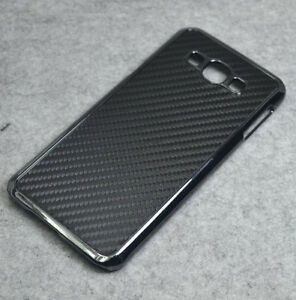 hot sale online e5519 e3fa4 Details about For Samsung Galaxy A8 2015 Black Carbon Fiber Chrome Hard  case cover