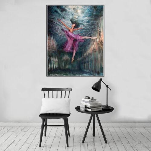 Marine Goddess Mermaid Canvas Art Poster Print Wall Picture Home Decor Unframed