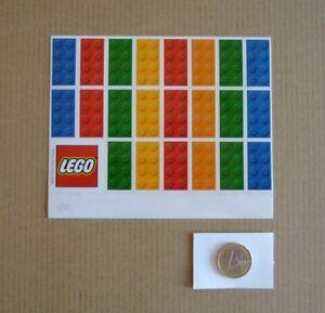 Analytique Lego Collection - Foglio 22+1 Adesivi Lego - Nuovi Mai Usati