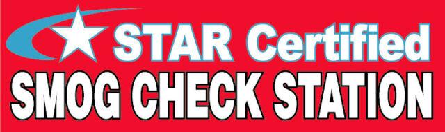 3x10 FT Vinyl Banner Sign - Star Certified Smog Check Station RB | eBay