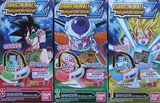 Dragonball Z Saiyan Blue Red Green Scouter set Shokugan Bandai