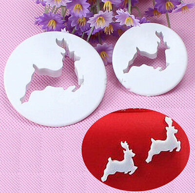 New Deer Fondant Cake Cupcake Cookie Cutter Decorating Tool Craft Toppers 0528