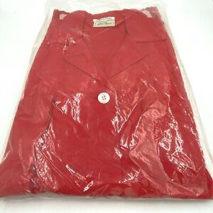 Vintage LL Bean Flannel Pajamas Mens size L Red NOS New in Package USA made PJ
