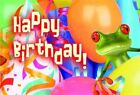 Happy Birthday Frog Postcard Pkg of 25