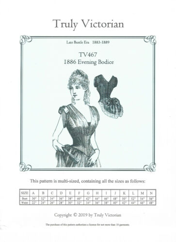 1886 Evening Bodice Schnittmuster TV 467