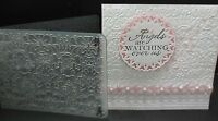 Sizzix Exquisite Subtle Butterfly Damask Embossing Fold + Stampin Up Bow Punches