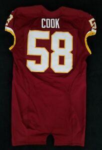 #58 Erik Cook of Washington Redskins NFL Locker Room Game Issued Jersey