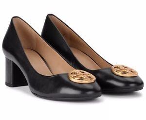 c04c558ed072d8 Tory Burch Black Leather Benton 50 MM Pumps Women s Size 6.5