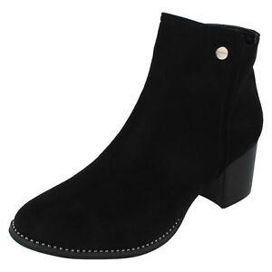 Ladies F5r0929 in microfibra moda Black alla su caviglia Spot stivali 1wvqHc1rR