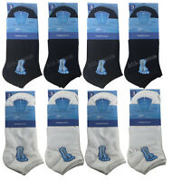 3/6/12 Pairs Men's Big Foot Trainer Liner Ankle Socks Cotton  lot Size 11-14