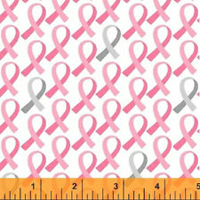 Pink Ribbons, Gray Accent, Breast Cancer Awareness, Windham REMNANT (13 inches)