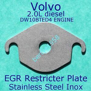 EGR valve blank restrictor plate Volvo 2.0LD C30 C70 V40 V50 V70 S80 DW10 BTED4