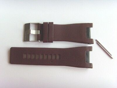 Aufrichtig Diesel Original Ersatzband Lederarmband Dz1273 Uhrband Braun Watch Strap Brown Einen Effekt In Richtung Klare Sicht Erzeugen